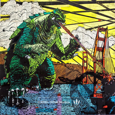 """Gamera"" Print by Eric Rewitzer 3 Fish Studios"