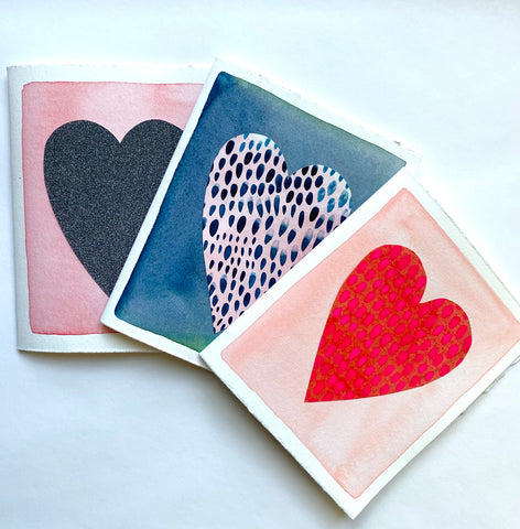 Trio of Heart Cards