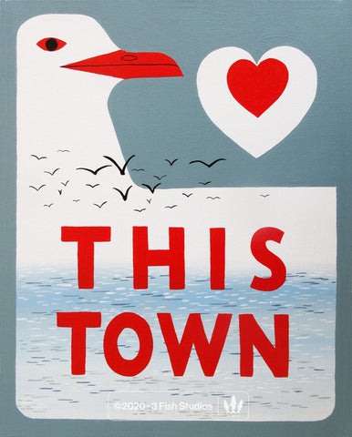 """Love This Town"" Print by Annie Galvin from 3 Fish Studios"