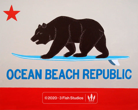 Ocean Beach Republic by Annie Galvin from 3 Fish Studios