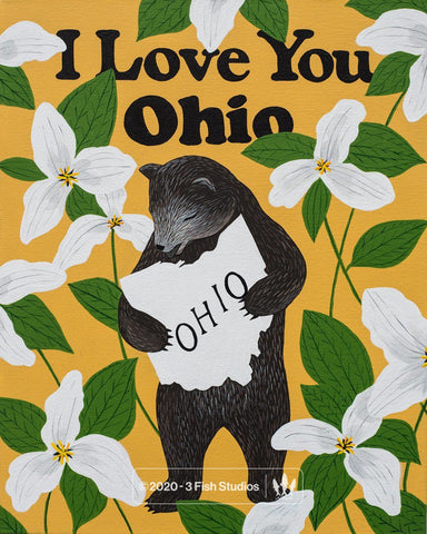 """I Love You Ohio"" Print by Annie Galvin from 3 Fish Studios"