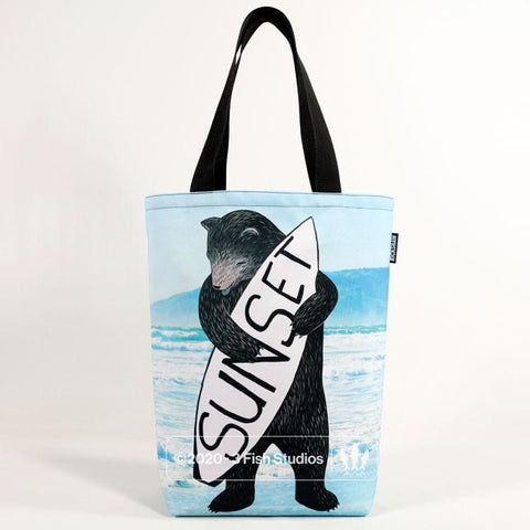 Sunset Bear Rickshaw Tote