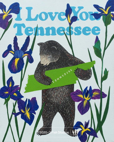 """I Love You Tennessee"" Print"