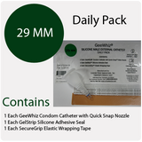Condom Catheter 29mm GeeWhiz  daily pack of 35 condom catheters - Merlin Medical Supply
