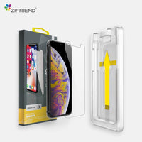 Premium Crystal 2.5D Tempered Glass for iPhone with Easy Applicator zifriend