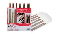 Symfonie Wood Double Pointed (15cm) Sock Needle Set