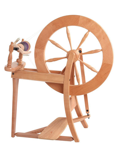 Traditional Spinning Wheel Double Drive Natural
