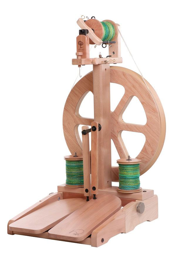 Kiwi 3 Spinning Wheel with Folding Treadles Lacquered