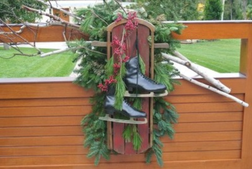 Vintage Winter featured in Houzz Article: Vintage Sleds Bring a Dash of Winter Nostalgia