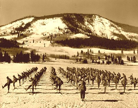 WWII 10th Mountain Division on Skis.
