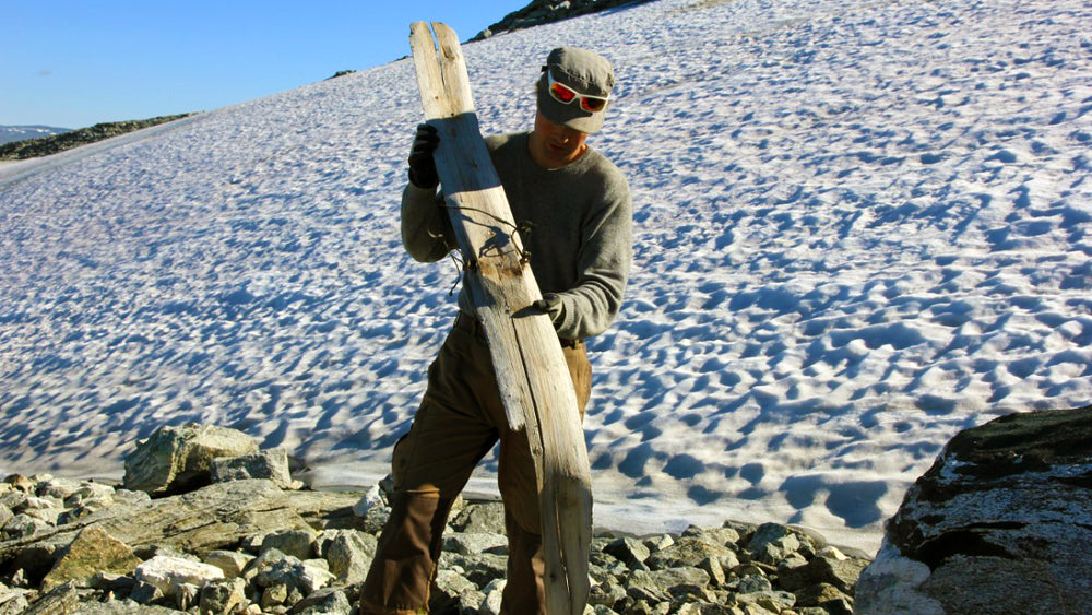 1300 Year old Viking wooden Ski found in Norway