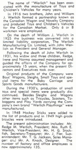 Canadian Wagon and Novelty Company; Werlich Play Things