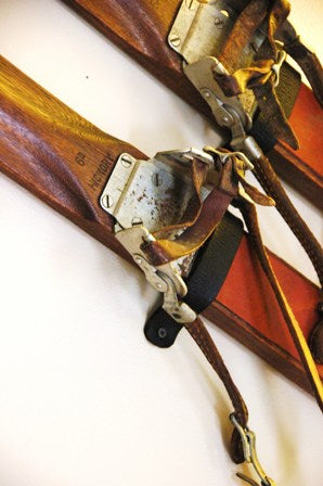 How To Hang Your Antique Or Vintage Skis Vintagewinter