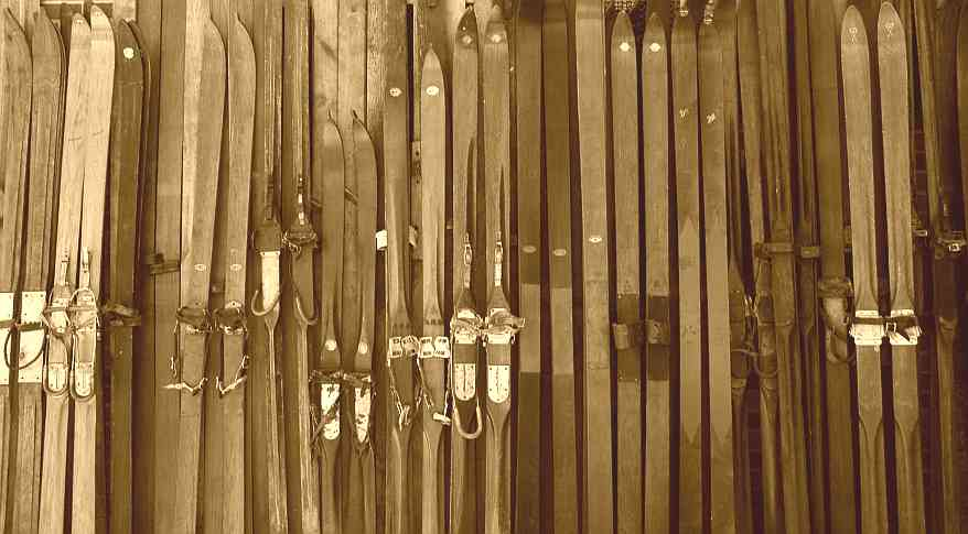 A snapshot of our collection of thousands of antique skis.