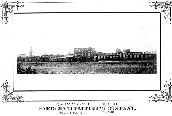 Original period photo of the Paris Manufacturing Company in Maine