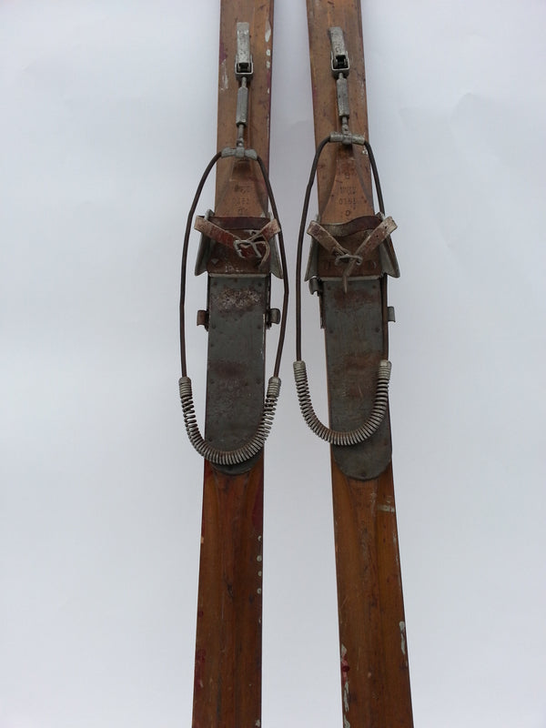 Maple Downhill Skis - Montgomery Ward Brand