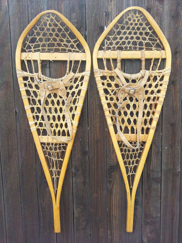 Vintage Wooden Snowshoes - Canada