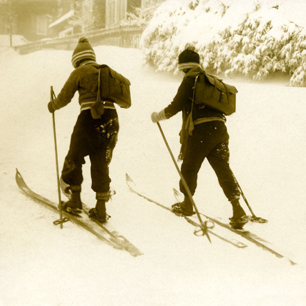 Vintage Ski Photo - Children Skiing