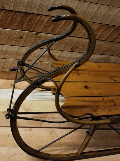 Vintage Sleigh Coffee Table - 1890s Runners - Newly Crafted TableTop