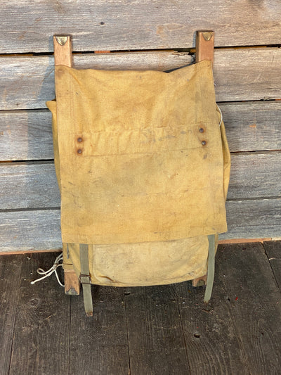 Vintage Wooden Frame Backpack
