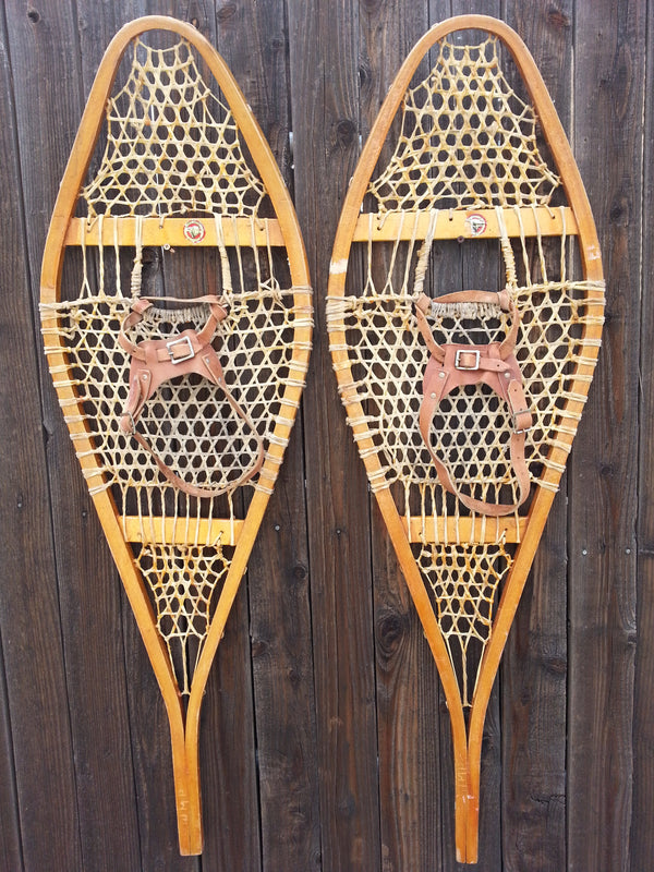 Canadian Vintage Snowshoes with fine weave