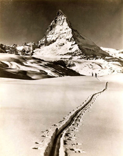 Vintage Ski Photo - Backcountry Travel