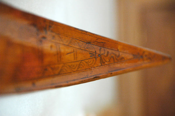 Antique Swedish Hand Carved Skis