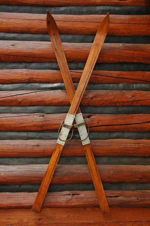 Antique Hand Carved Ridgetop Skis