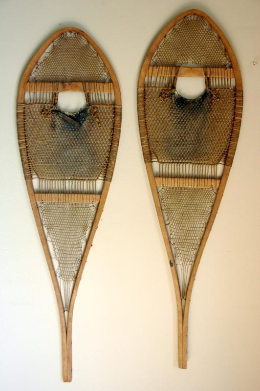 Antique Native American Indian Snowshoes - 50""