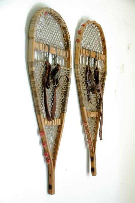 Antique Native American Indian Children Snowshoes
