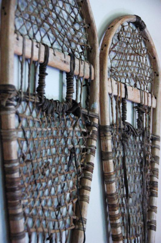 Antique Trapper Snowshoes - 44""