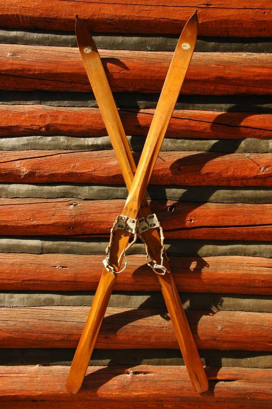 Antique Western Flyer Skis