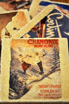 Marble Tile Coasters with Vintage Ski Posters and Photos