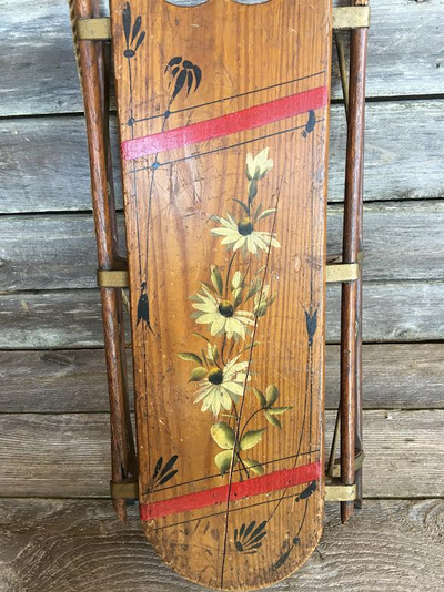 Children's Vintage Wood Sled