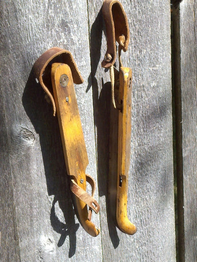 European Ice Skates - Wooden