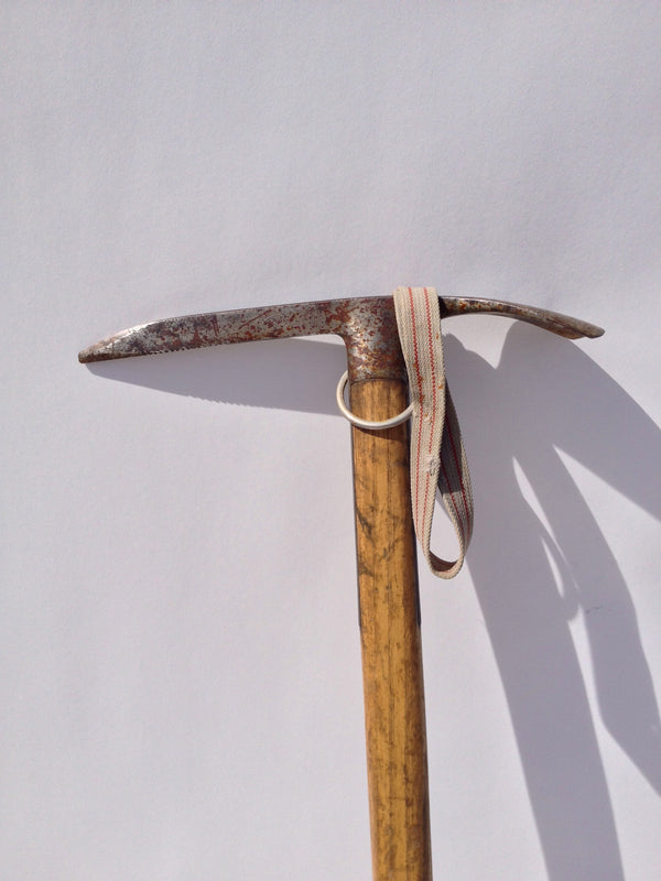 Vintage Swiss Military Mountaineering Ice Axe