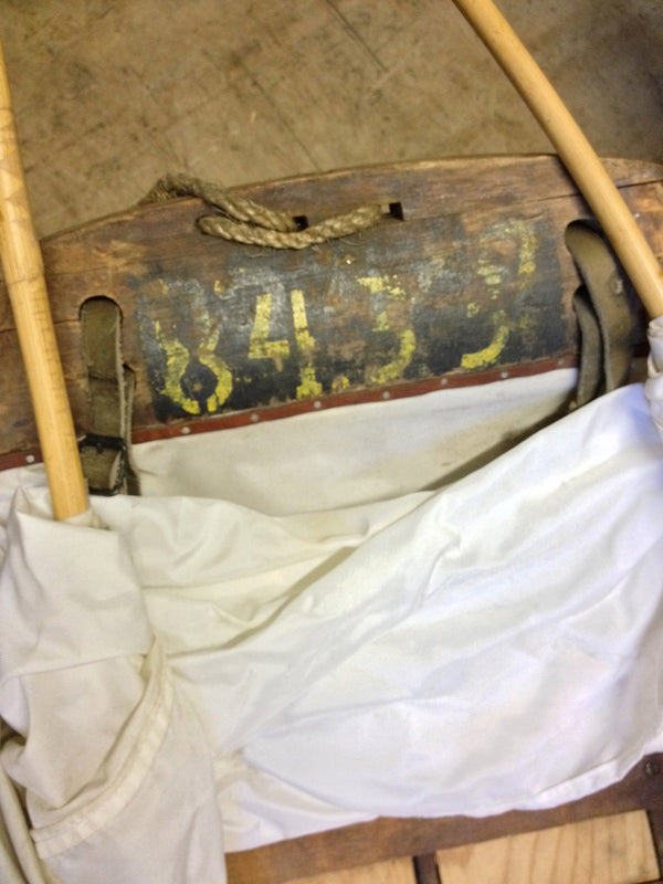 Vintage Swedish Military Rescue Sled - Mountain Original