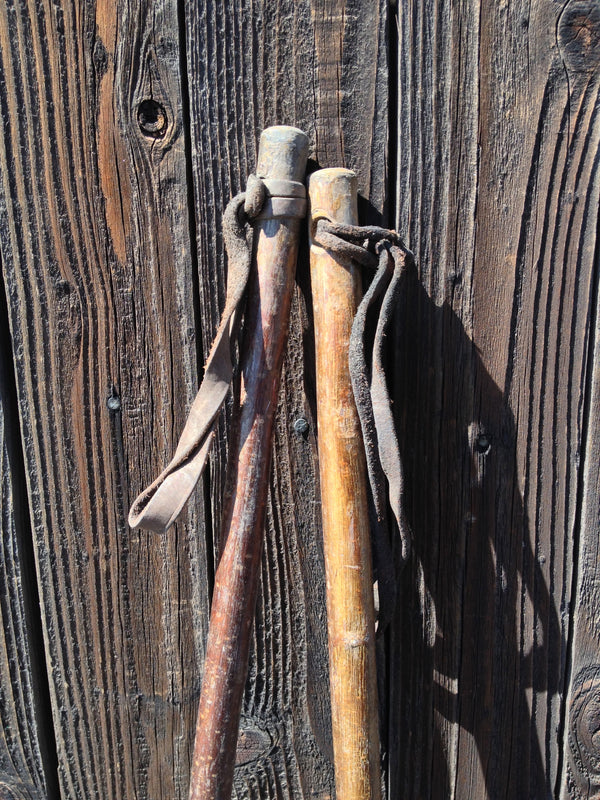 Vintage Hickory Youth Ski Poles