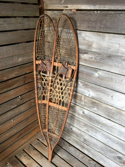 "USA Military Snowshoes - Vintage 58"" Long Trail Style"
