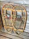 Antique 10th Mountain Bear Paw Snowshoes