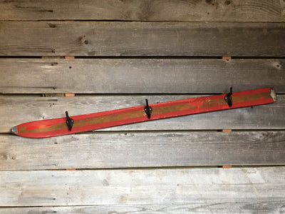 Antique Kids Ski - Coat Hooks - Red