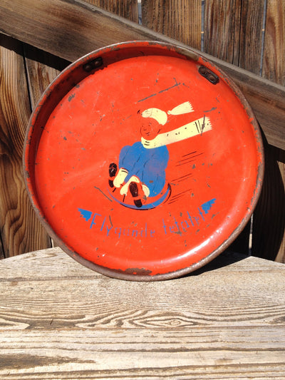 Vintage Dutch Snow Saucer - Flygande Tetatet