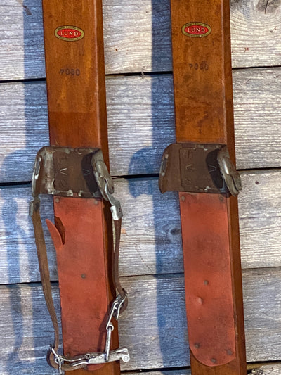 Vintage Lund Company Skis