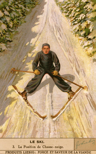 Vintage Skiing Poster - Le Chasse Neige