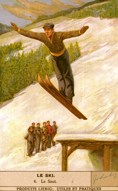 Vintage Skiing Poster - Le Saut