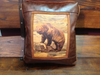 Faux Leather Pillow:  Grizzly Bear