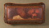 Faux Leather Pillow: Big Bad Bear