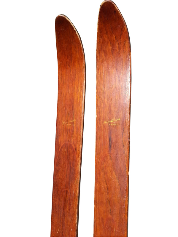 "Paris Manufacturing ""Mountaineer"" Skis - Vintage 1940s"