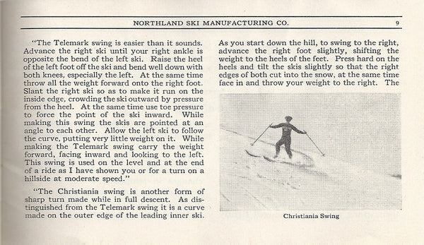 1923 Northland Ski Manufacturing Company Brochure