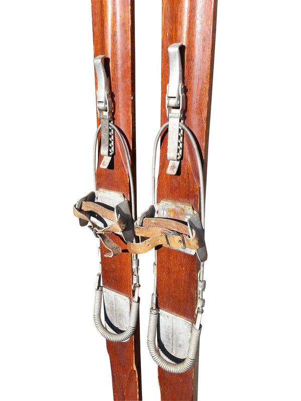 Vintage Kandahar Ski Bindings - Beartrap Cable Style